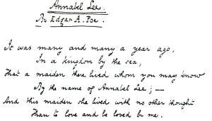 Edgar Poe écriture