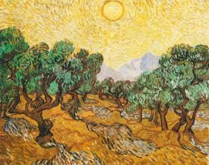 VAN GOGH oliviers sous le soleil